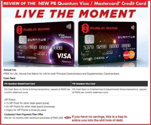 Public Bank Quantum Visa MAsterCard