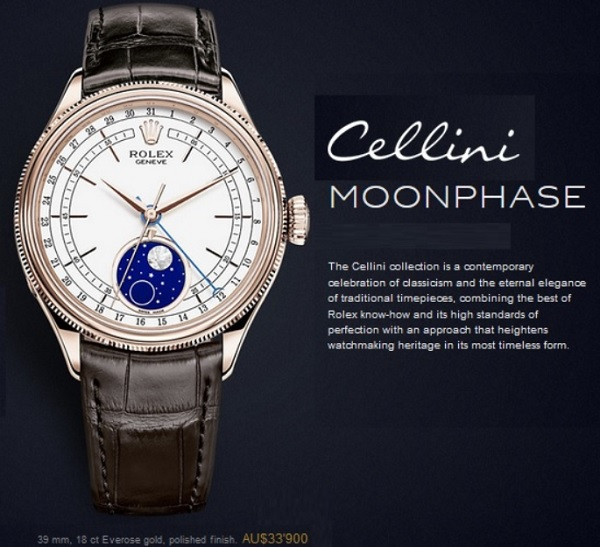 Rolex Cellini Moonphase New 2017