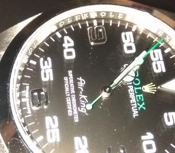 Rolex Laser Engrave Crown Etched