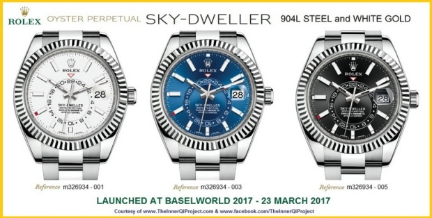 Rolex Sky Dweller 904L Steel and White Gold
