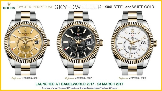 Rolex Sky Dweller 904L Steel and Yellow Gold