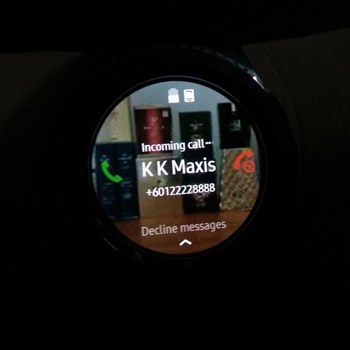 Samsung Gear S3 Answering Incoming Call