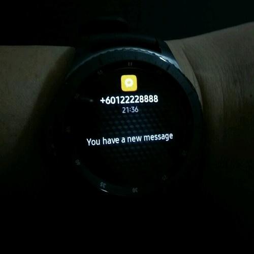 Samsung Gear S3 SMS