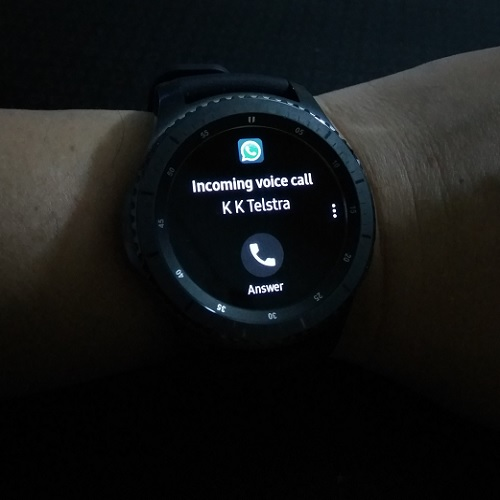 Samsung Gear S3 WhatsApp Call
