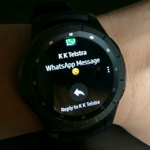 Samsung Gear S3 WhatsApp Can Reply