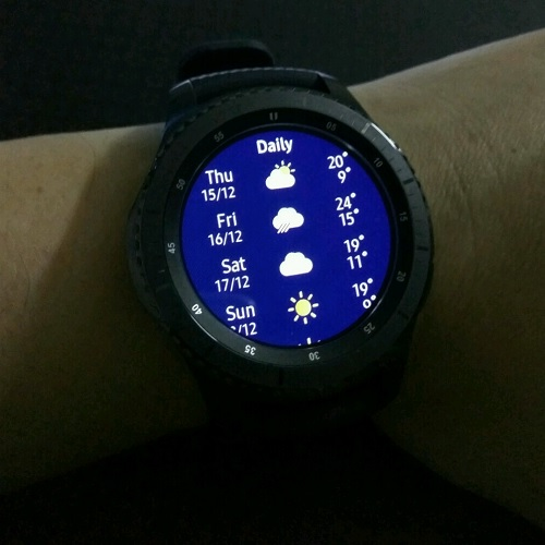 Samsung Gear S3 World Weather Details Daily