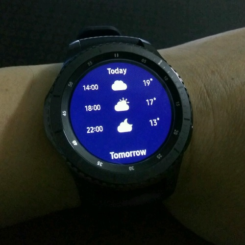 Samsung Gear S3 World Weather Details Hourly
