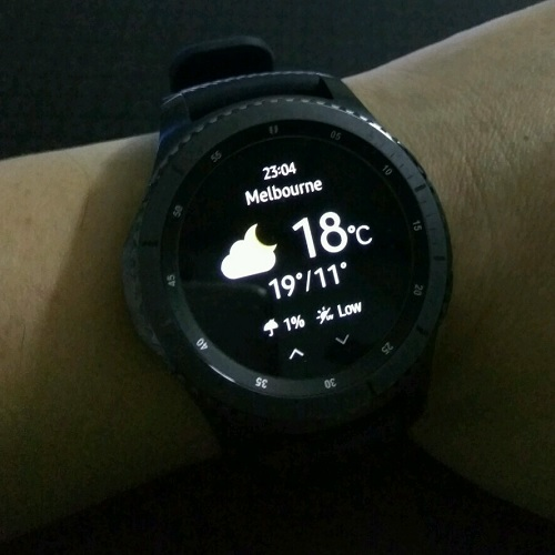 Samsung Gear S3 World Weather