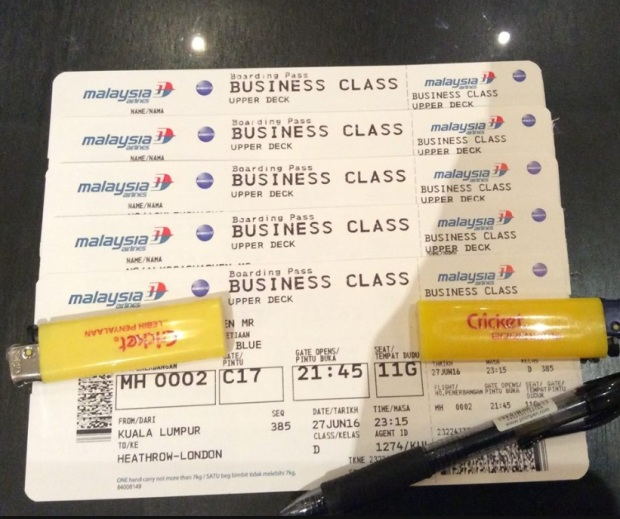 Free Business Class tickets with credit cards