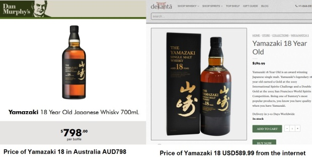 Yamazaki 18 price