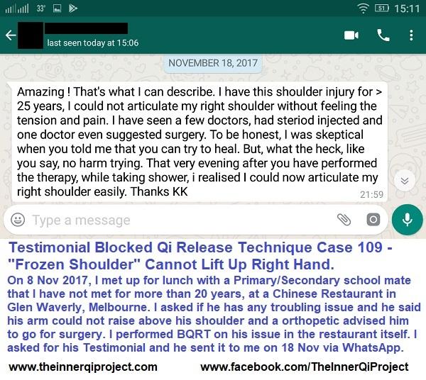 Testimonial BQRT Case 109 Frozen Shoulder